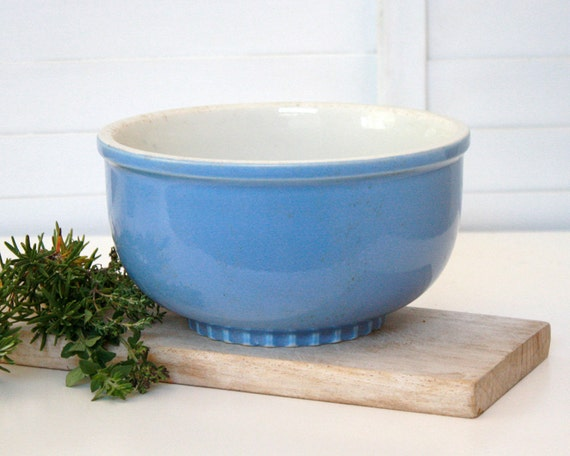 Vintage Blue Mixing Bowl