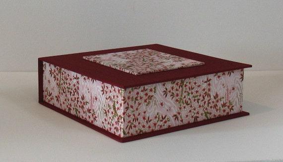 Red Japanese Jewelry/Keepsake Box