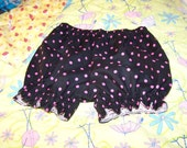 Diaper Cover Black and Pink