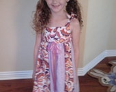 Purple and Paisley Toddler Dress