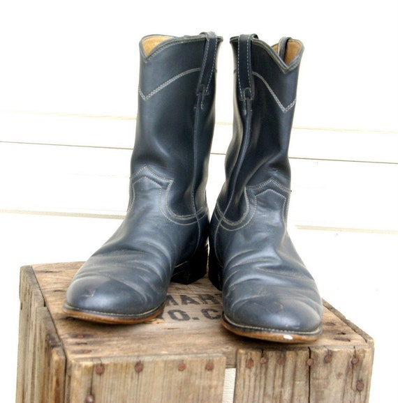 Vintage Smokey Diamond J Mens Boots 9.5