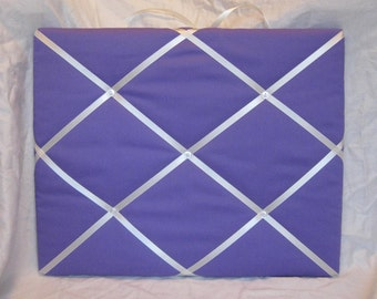 Purple and cream Memory Board French Memo Board, you pick the size
