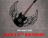 Rock Star Birthday Invite