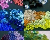 Swarovski 4mm Bicone Crystals 5328, 5301 Austria Bicones Colors 20pc to 1000pc Loose crystals Beads for jewelry making craft Xillion Cut