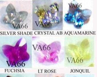 10mm Swarovski Crystal 5754 Butterfly Crystal 6p Choose Colour Loose Beads Jewelry Making, Sewing, Scrapbooking, weddings