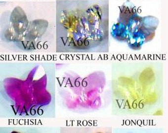 8mm Swarovski Crystal 5754 Butterfly Crystal 12p Choose Colour Through Bead Jewelry making findings supplies