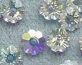 100p Swarovski Margaritas Daisy Flower Crystal 3700 6mm Crystal AB from Austria Loose Crystal Beads for Jewelry Making Findings