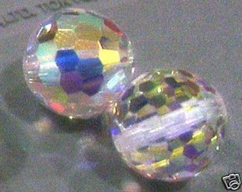 4p 5003 8mm Swarovski Crystal AB Disco Ball Loose Beads for Jewelry Making Supplies Crystals