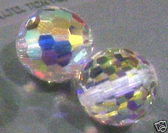 4p 5003 6mm Swarovski Crystal AB Disco Ball Loose Beads for Jewelry Making Supplies Crystals Beading Hobby Craft