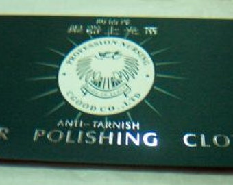 Silver 925 Anti-Tarnish Cloth Cleans Sterling Silver Cleaning Cloth Polishing Silver Cloth