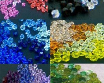 Swarovski 6mm Bicone Crystals 5328, 5301 Bicones u choose color 100pc Loose crystals Beads for jewelry making