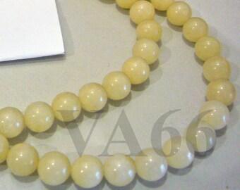 "DIY 8mm Honey Jade Gemstone Smooth Round 15.5"" Gems Loose Beads Genuine Natural Gemstones Jewelry Making, Scrapbooking, Craft"