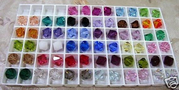 8mm 5301 Bicone Swarovski Crystal 20p Choose Colours Loose Beads, Through hole Jewelry making Crystals