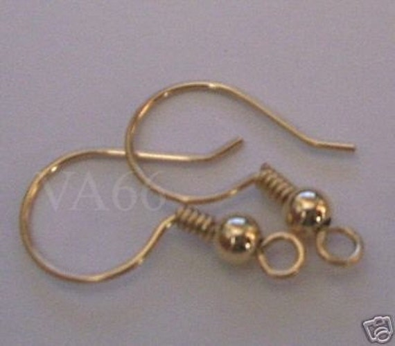 DIY 14K Gold Filled Earring Hooks 2 pairs 4pcs 0.6mm Wire Gauge Jewelry Making Supplies Findings