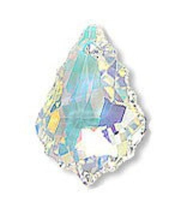 22mm x 15mm Swarovski Baroque Pendant Crystal AB 6090 Loose Beads Jewelry making top drill pendant bead
