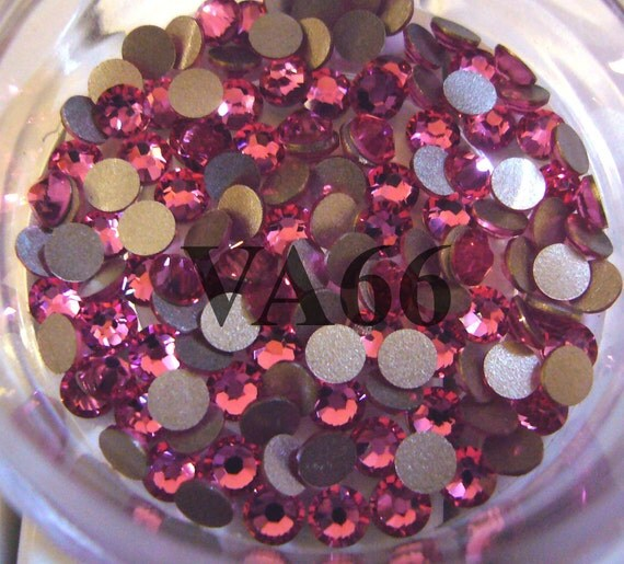 SS12 2028 2058 Swarovski Crystal Flatback Rhinestone Rose 72pcs for Crafts, Scrapbooking, Home, Decor, Bling Bling