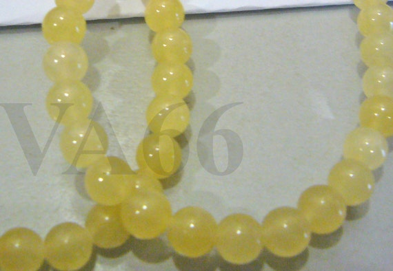"DIY 5mm Honey Jade Gemstone Smooth Round 15.5"" Gems Loose Beads Genuine Natural Gemstones Jewelry Making, Scrapbooking, Craft"