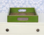Distressed Green Serving Tray - Small