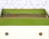 Distressed Green Serving Tray - Medium