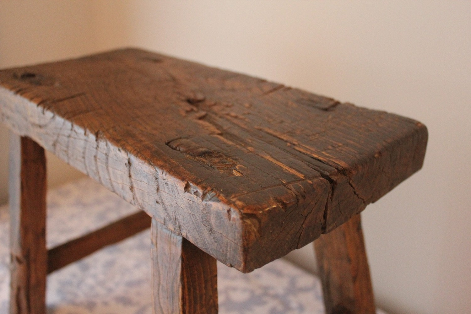 Rustic Reclaimed Wood Foot Stool