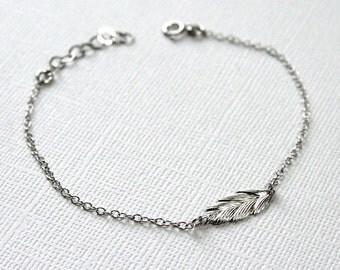 Feather Bracelet-STERLING SILVER