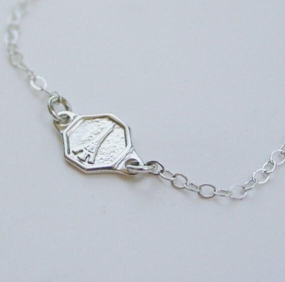 eiffel tower bracelet 925 sterling silver by jewelsandnotes