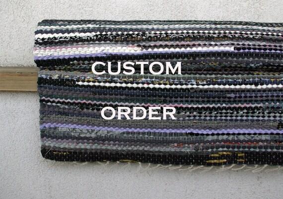 Custom order 4 Rugs for DTNatalie  - gray black white.