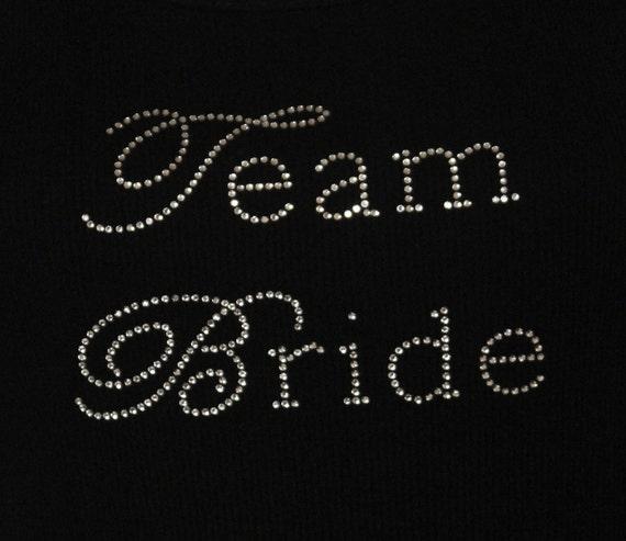Team Bride Chic Rhinestone Iron On Heat Transfer - DIY