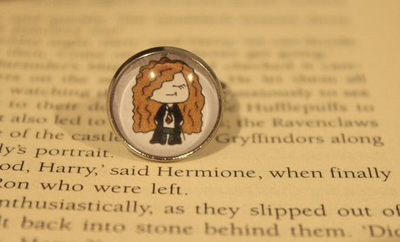 Herimone Granger Cartoon Adjustable Ring