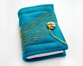 Angel Wing - Handmade Journal, Diary, Notebook - 352 pages, embroidered fabric cover