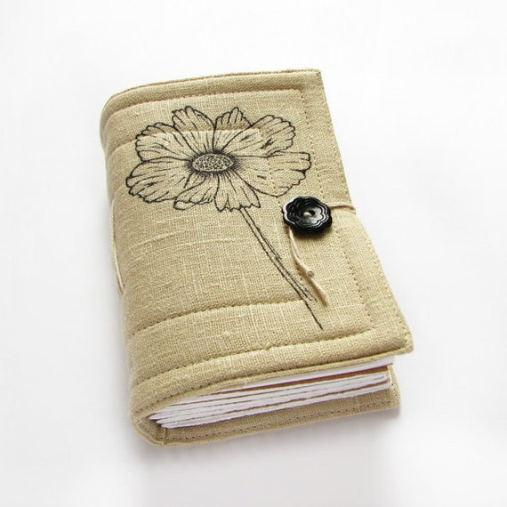 Poppy - handmade journal, sketchbook, diary, blank paper