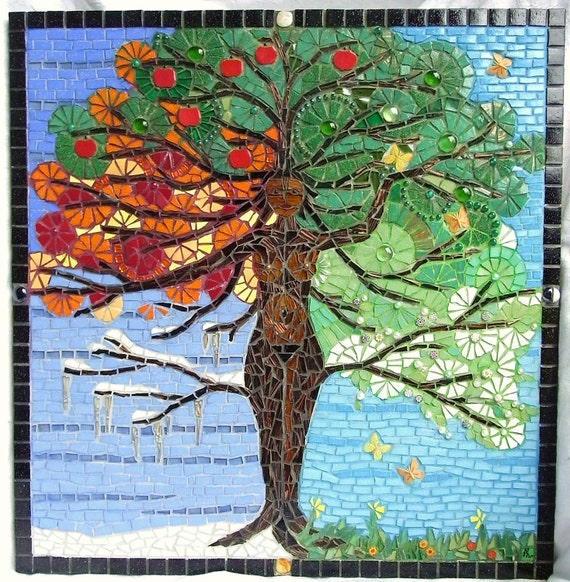 Tree of Life Goddess Mosaic
