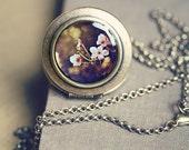 SALE - 50% OFF Photo Locket: Japanese Anemones, Wearable Art Locket Necklace, Marianne LoMonaco
