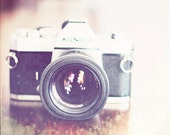 Still life photography, Camera Print: I Shoot Film Fine Art Photography Vintage Camera Print, Office Wall Art, Camera art print