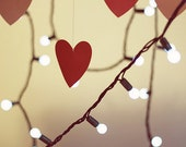 Love Art: light in our hearts 5x7 Fine Art Photograph love art hearts photo, Vertical Print red hearts - MarianneLoMonaco
