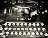 Corona vintage typewriter Fine Art Photography Black and White Photography Art Office Decor Still life Typewriter print Still life