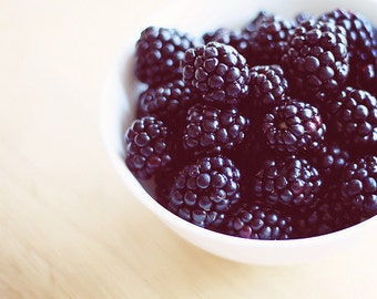Food Photography, Art For Kitchen Blackberries Fine Art Food Photography Kitchen Art fruit still life photography, fruit art print