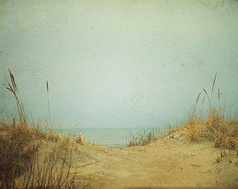 Beach Photography: To the Beach Fine Art Photography contemporary art Ocean Sandy Grass water Nature Photography