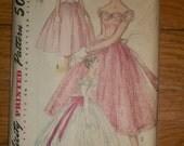 1950's Misses' Evening Dress pattern Simplicity 1770- Uncut