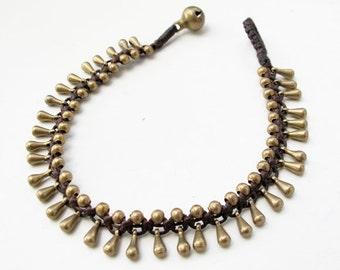 Little Gaging Brass Brass Bead  Water Drop Woven Bracelet