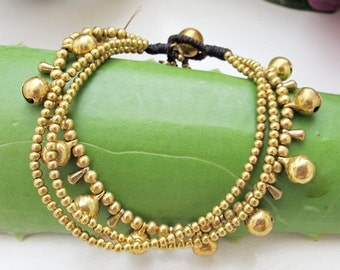 Hippie Summer Bracelet and Brass Bead
