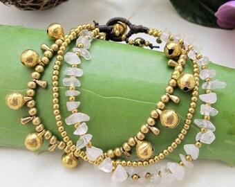 Hippie Summer Bracelet and   Rose Quartz  Stone