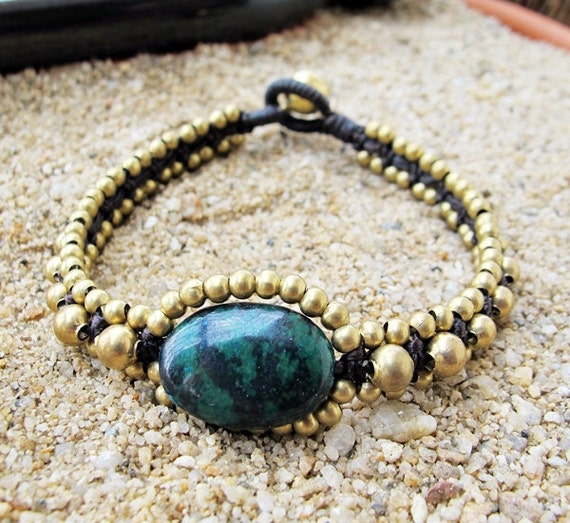 Summer Time on the Beach with  Chrysocolla  Bracelet