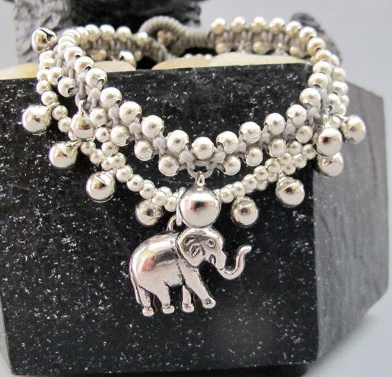 Gypsy Elephant Cascade Silver Colour Bead Bracelet