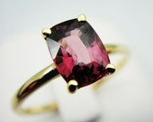 Garnet 14k Yellow Gold Bezel Ring