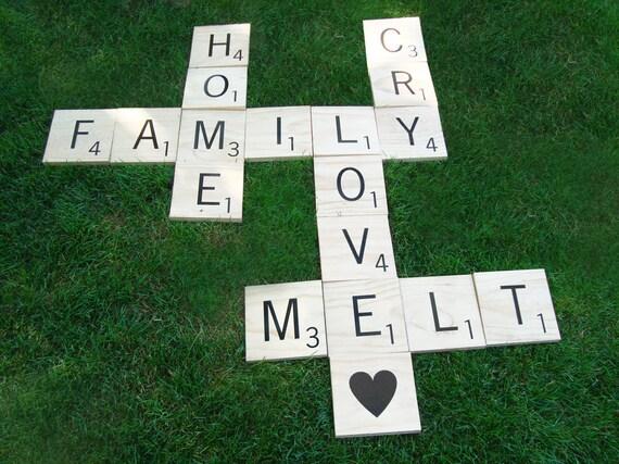 Huge Scrabble Letter Tiles 7 Tiles