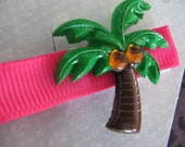 Listing for Michelle - Summer Palm Tree Hair Clip with Rhinestone Accents