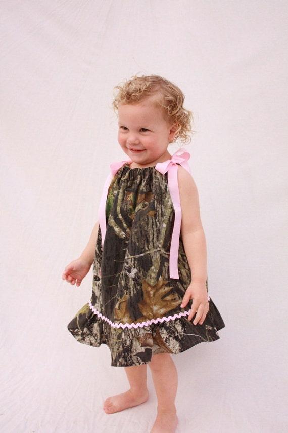 Baby girl camo dress, Mossy oak pillowcase dress