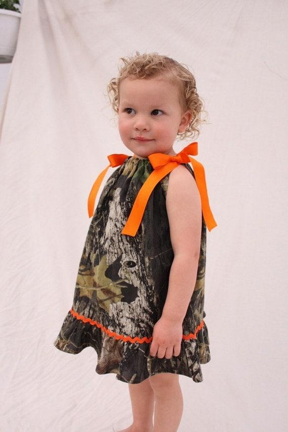 Baby girl camo dress, Camo Wedding, Flower girl dress, Mossy oak pillowcase dress