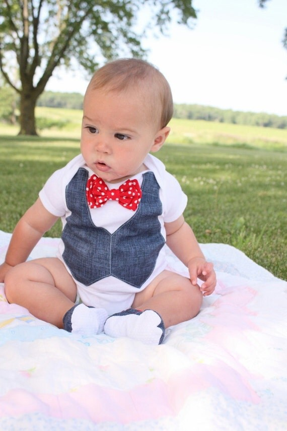 Baby boy 4th of july patriotic shirt bow tie shirt by for Baby shirt and bow tie